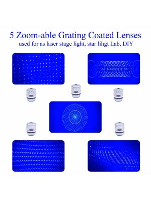5pcs/suit φ11.28mm Changeable Pattern Lens for Laser Pointer