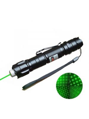 50mW 532nm Green Laser Pointer with Clip Interchangeable-Lens 5 Lenses - G920