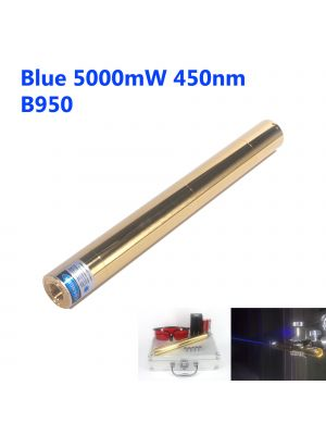 5000mW 450nm High Power Blue Burning Laser Pointer - Copper Shell - B950