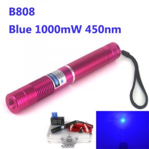 This 1000mW 450nm Blue High Power Burning Laser Pointer can lit up matches, burn papers and wood. It is a real 1000mW blue laser, same as some sellers labeled