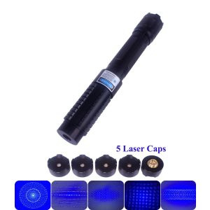 High Power 1000mW 450nm Blue Laser Pointer, able to light matches, cigarettes, burn papers, plastics, wood, and engrave on low melting point metals. Laser brightness and focus is adjustable. Interchangeable lens design, come with 5 laser caps.