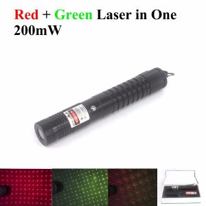 This laser pointer has tow laser diode modules, a red laser diode and a blue laser diode.