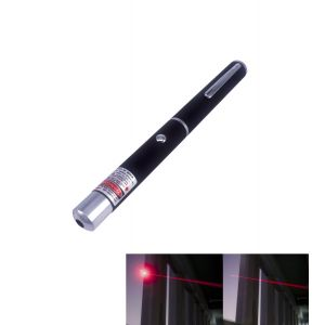 5mW 650nm Red Laser Pointer Single-Dot-Beam Pen-Shape Black with 2 * AAA Battery - R100