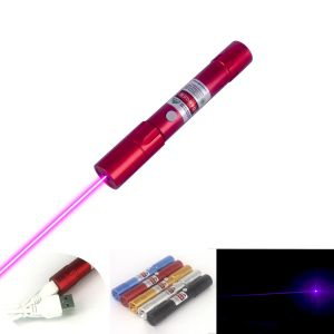 M211 200mW Green/Red/Violet Laser Pointer Flashlight-Shape Fixed-Focus